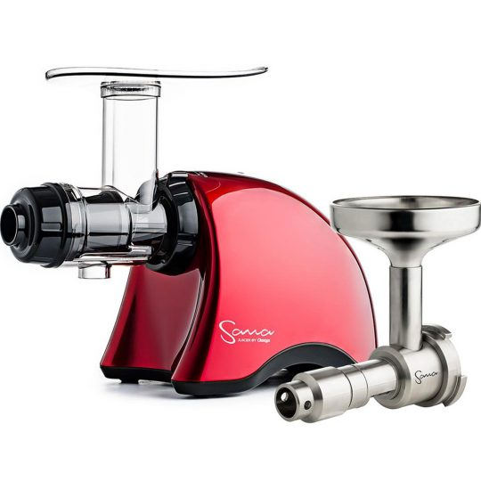 SANA Juicer 707 Red + Sana Oil Extractor EUJ-702