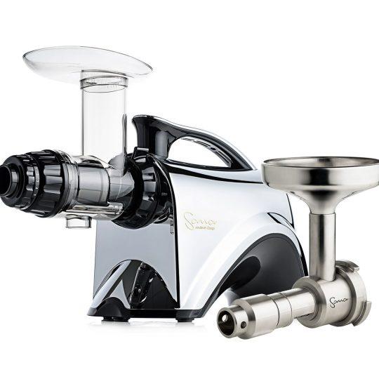 Шнековая соковыжималка SANA Juicer 606 Chrome + Sana Oil Extractor EUJ-702