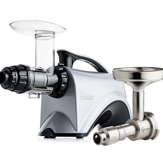 Шнековая соковыжималка SANA Juicer 606 Silver + Sana Oil Extractor EUJ-702