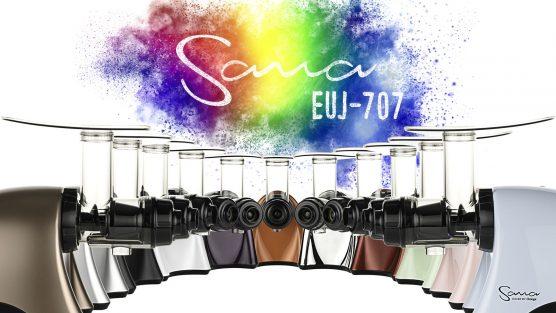 Шнековая соковыжималка Sana-707 теперь доступная в 8 новых цветах!