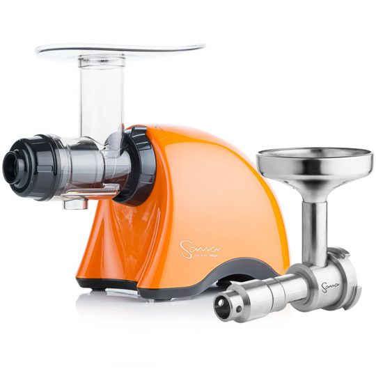 SANA Juicer 707 Gold pearl orange + Sana Oil Extractor EUJ-702 шнековая соковыжималка