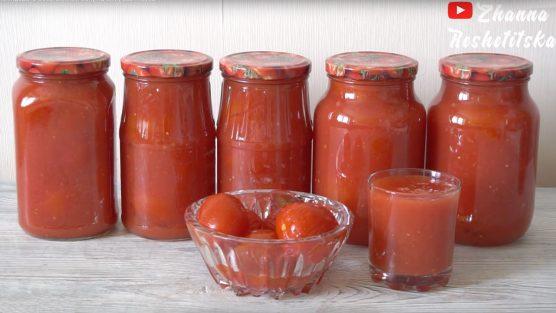 Рецепт томатов в собственном соку с помощью Sana 707